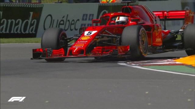 Vettel in pole