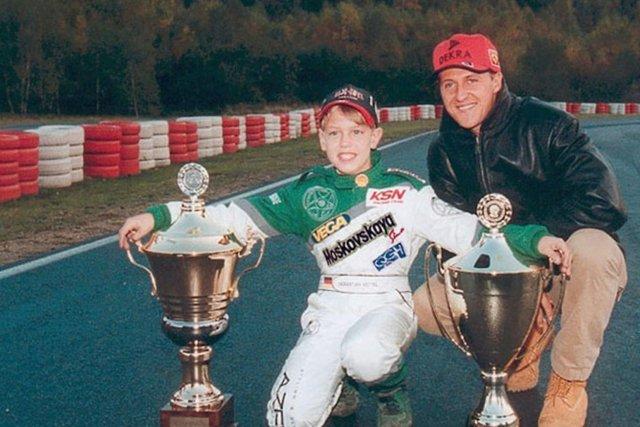 Baby Vettel e Schumacher