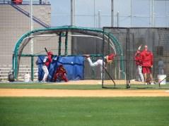 BP on Nats practice fields