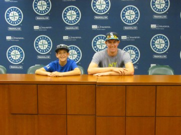 Me and Joe in the press interview room