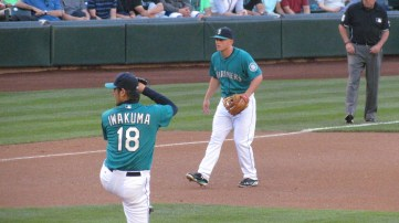 Iwakuma and Kyle Seager