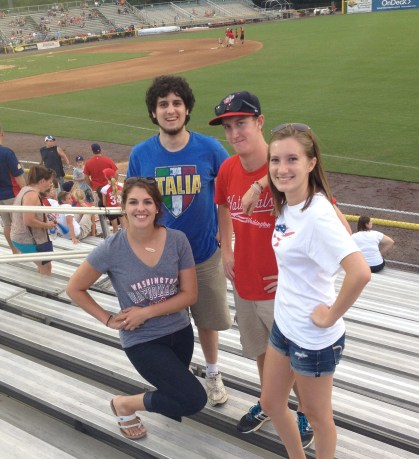 Kate, Ben, me, and Meredith at Pftizner Stadium