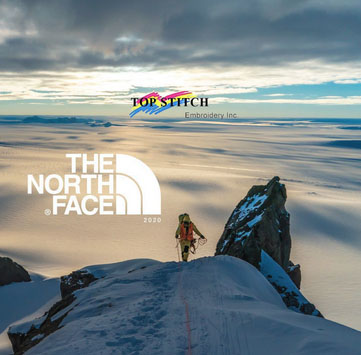 The North Face Outterwear at TopStitch Embroidery