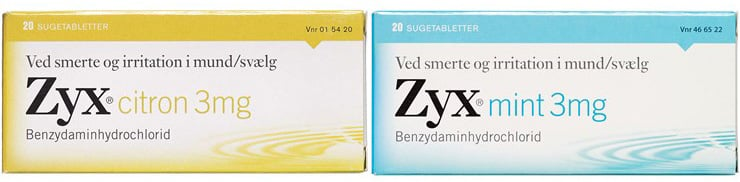 Zyx halstabletter - Honning+Mint