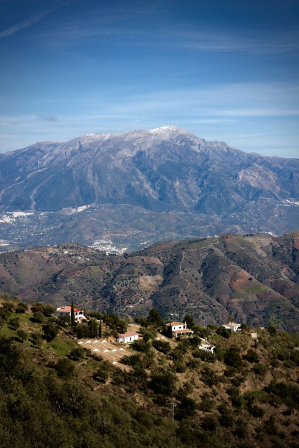 Views of the mountains from Comares, Andalucia