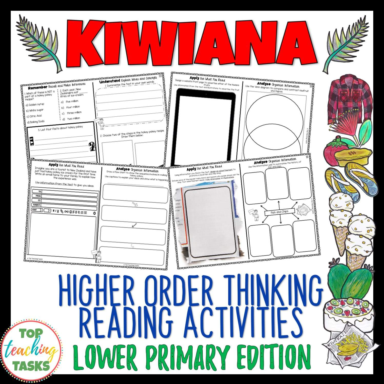 Kiwiana Reading Comprehension Activities Year 3 And 4
