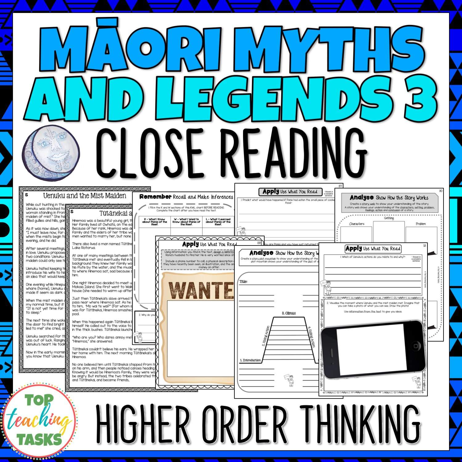 Maori Myths And Legends 3 Reading Texts And Activities