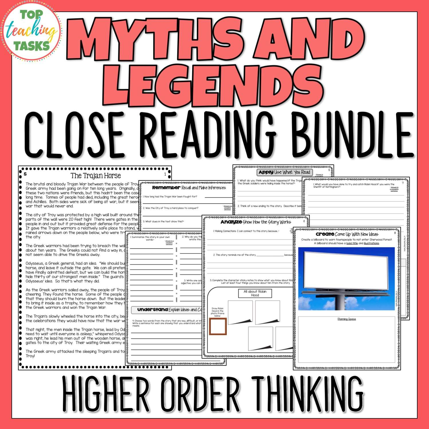 Myths And Legends Traditional Literature Comprehension