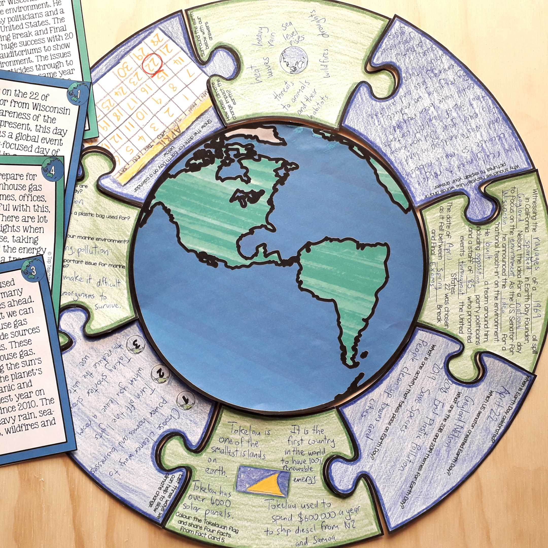 Recycling And Conservation Reading Comprehension Puzzle Activity