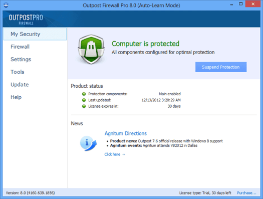 outpost firewall pro free
