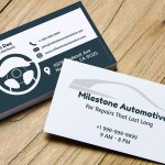 Car dashboard themed auto repair shop business card