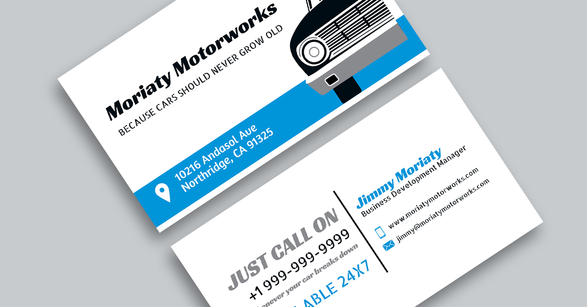 Local Auto Repair Business Card (With Emergency Support)