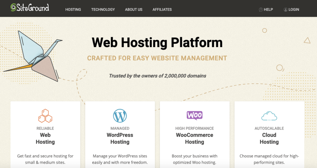 siteground hosting home page