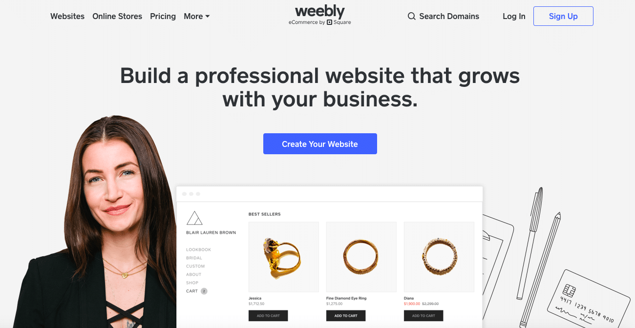 Website builder Weebly spec comparison