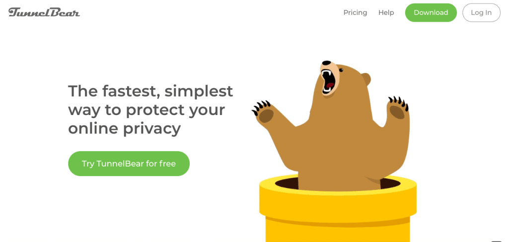 tunnelbear home page