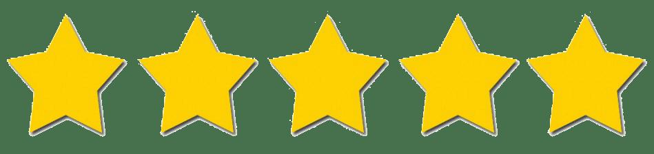 5 stars transparent