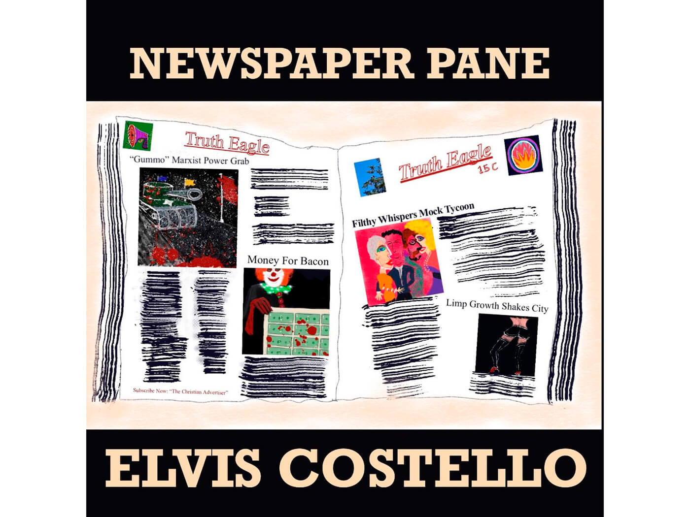 "Hear Elvis Costello's new track, ""Newspaper Pane"""