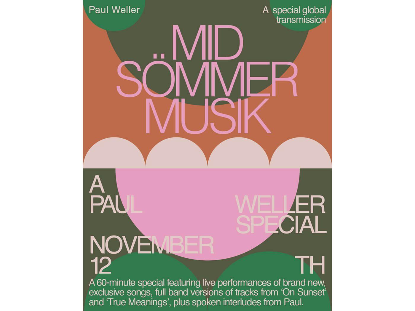 Paul Weller announces live special, Mid-Sömmer Musik