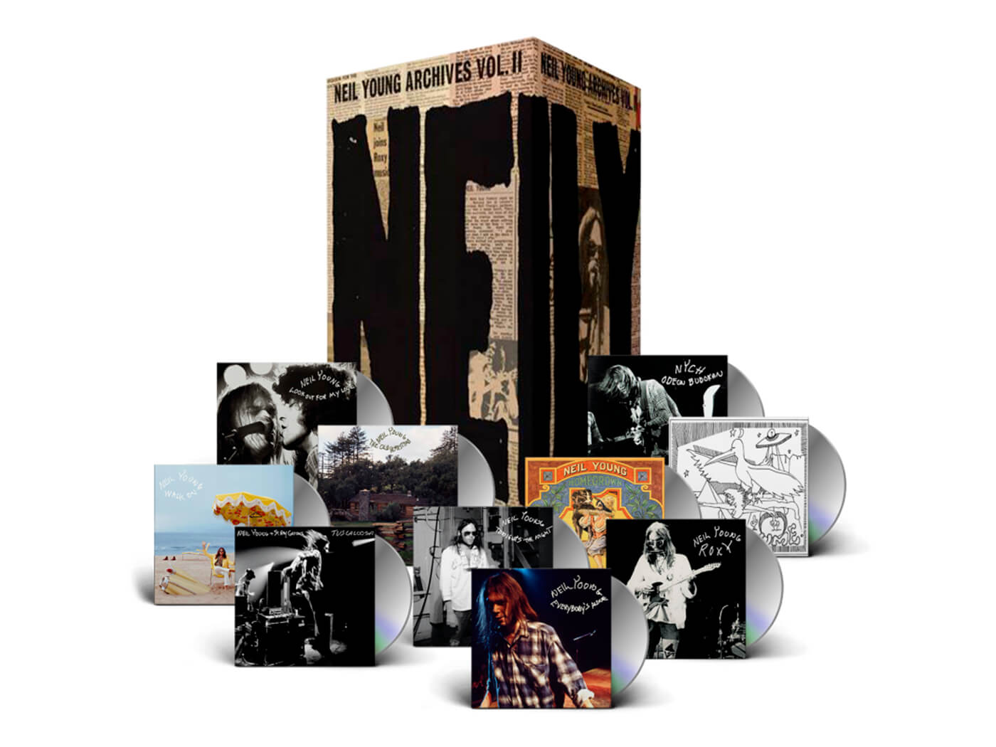 Watch the unboxing of Neil Young's Archives Vol II: 1972-1976