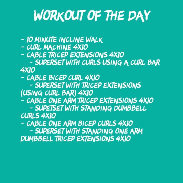 45-Minute Arm Circuit (WOD 10/29)