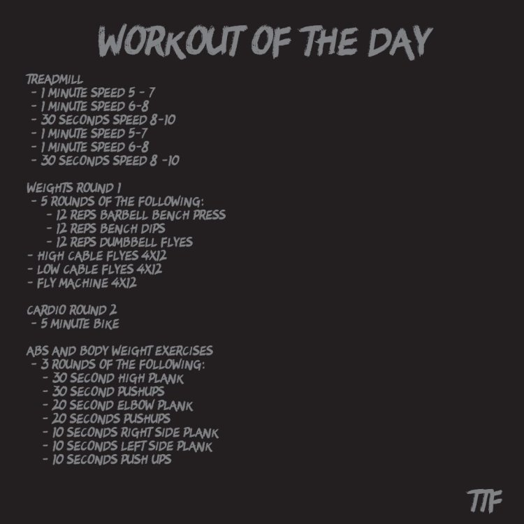 HIIT Chest Workout of the Day