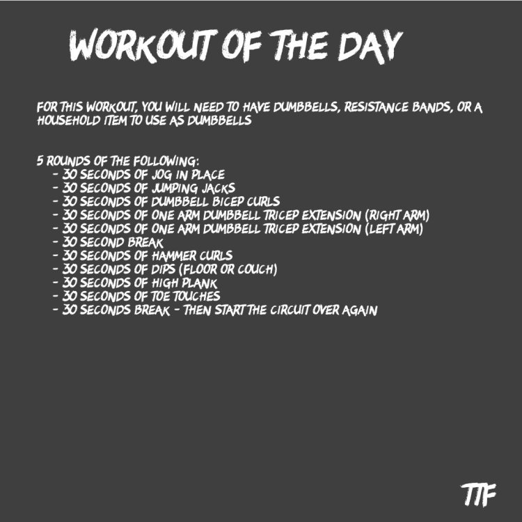HIIT Dumbbell Arm Workout from Home