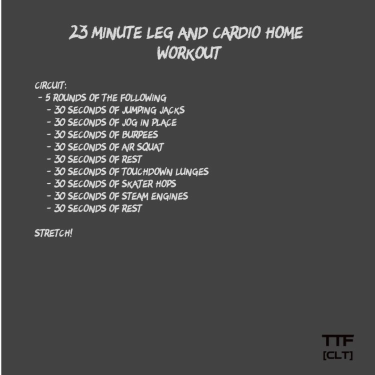 23 Minute Leg and Cardio Home Workout