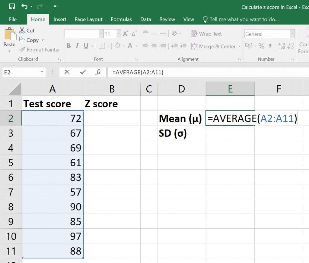 How To Easily And Quickly Calculate Z Scores In Excel