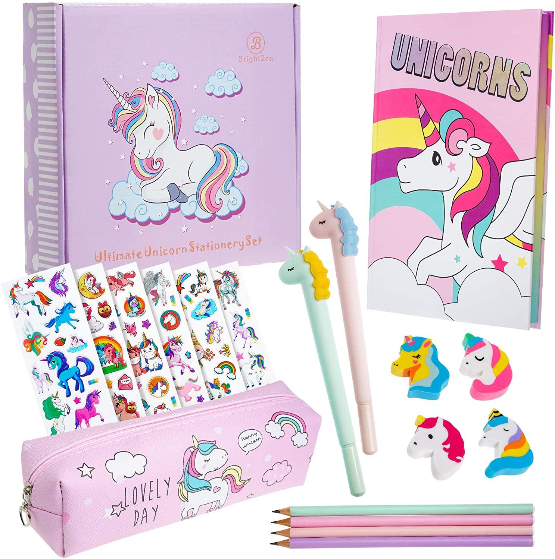 Brightzen Unicorn Stationery Set For Girls A5 Rainbow
