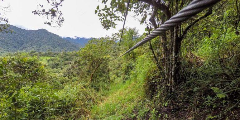 Zip lining in Mindo, Ecuador