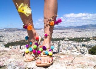 Sandalias de Mabu By Maria BK, imagen de la página web de ETSY