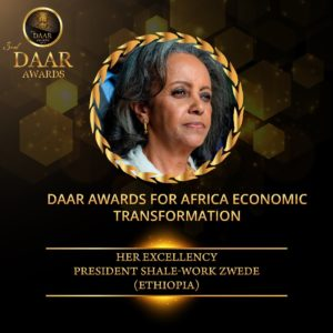 President Shale-Work Zwede - Daar Awards