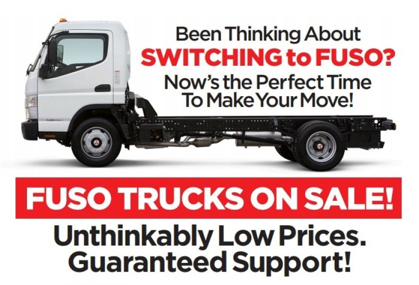 Been thinking about switching to Fuso? Now's the perfect time to make your move! Fuso trucks are on sale!