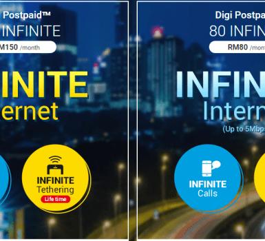 pelan unlimited digi infinite 150