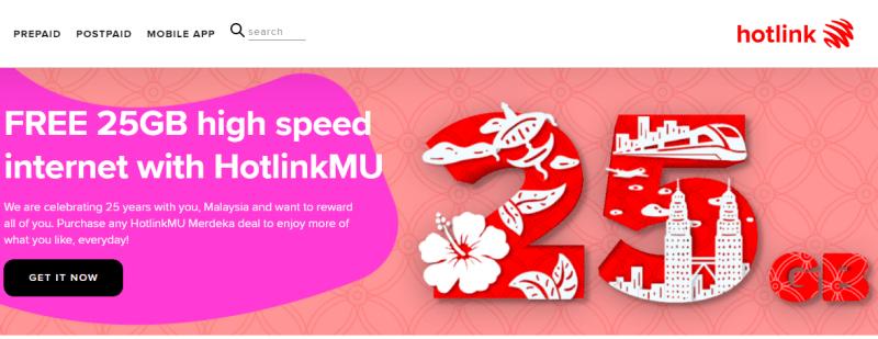 HotlinkMU Menawarkan 25GB Percuma