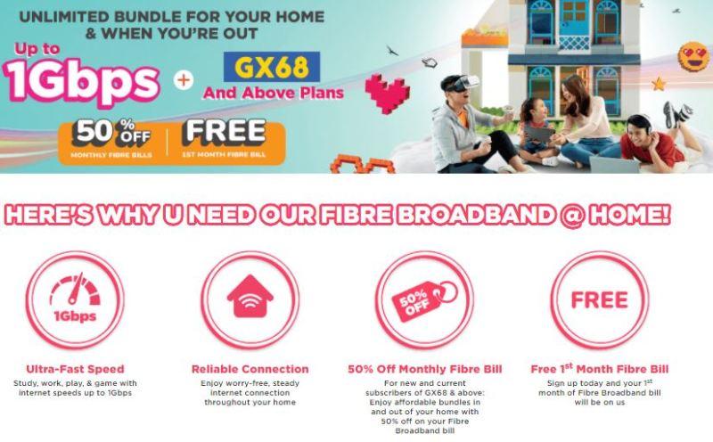 U Mobile Menawarkan Ultra Unlimited Home Fibre