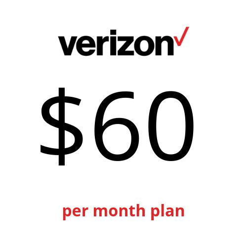 Verizon Prepaid $60 Unlimited Talk Text 4G LTE Data Plan