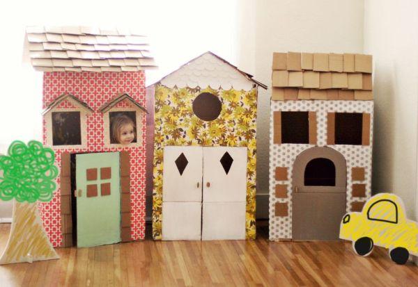 Crie sua própria casinha de brincar e estimule a criatividade dos pequenos.