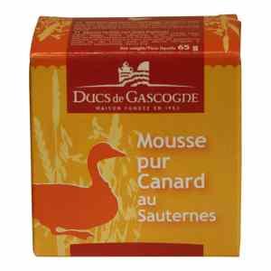 Topvine ducs de gascogne mousse pur canard au sauternes