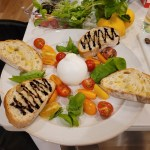 Burrata Cheese W/ Basil, Tomatos, & Balssamic Glaze Baguette
