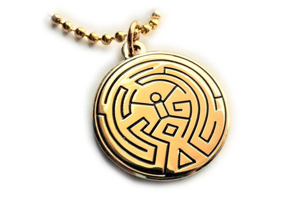 Westworld Maze Symbol Necklace with ball chain