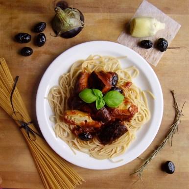 Spaghetti à la méditerranéenne