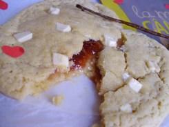 cookie fourré à la framboise