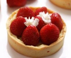 Tarte aux fraises, citron vert et gingembre de Céline