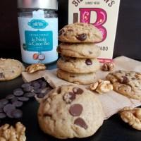 Cookies au beurre de coco, chocolat et noix