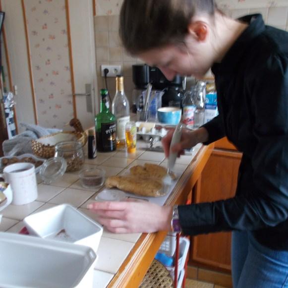 Badigeonnage du foie gras à la vanille
