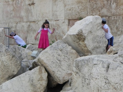 Our younger children explored, climbed and had fun while we prayed. They weren't bored, didn't bother us and even inquire and learned some history.