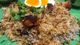 Hyderabadi chicken kacchi biryani