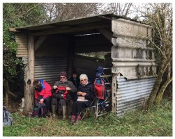 Lunch in the hut