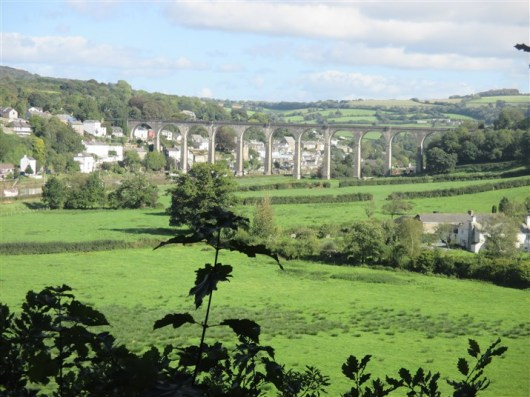 Stunning and iconic view of Calstock Viaduct